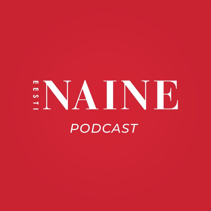 Punasel taustal valge kirjaga podcasti nimi.