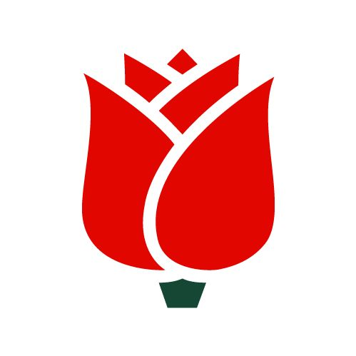 Sotsiaaldemokraatide logo.