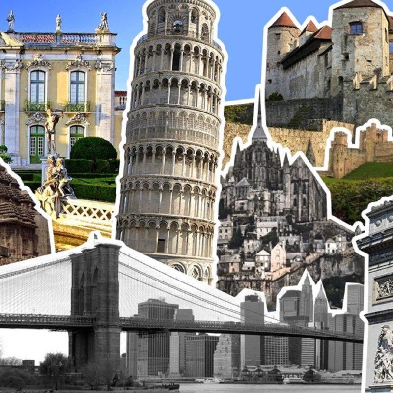 Pildil erinevad vaatamisväärsused Itaalias.