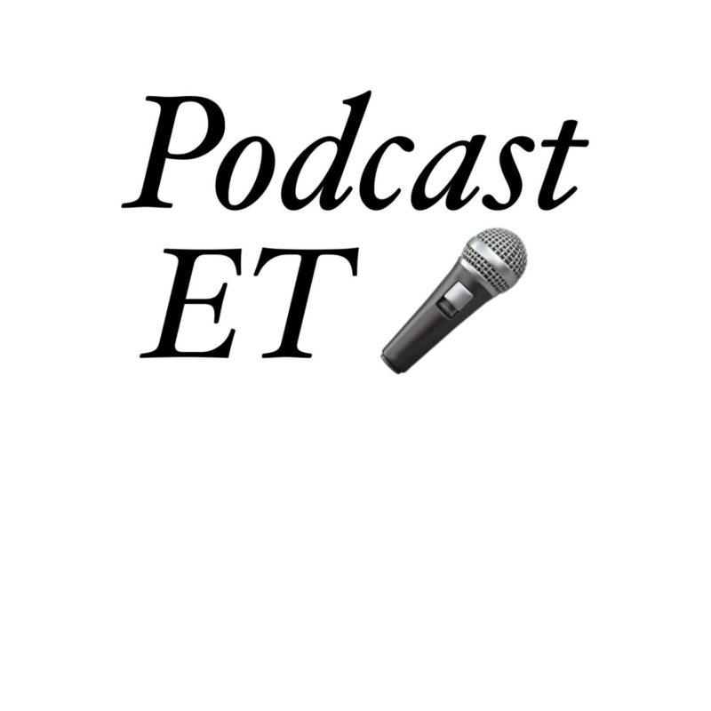 Podcasti nimi mustas tekstis valgel taustal ja teksti lõpus mikrofon.