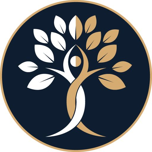 Ümmargune logo, millel on tumedal taustal kujutatud.