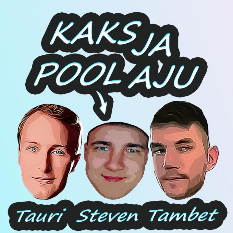 Podcasti nimi ja pildid esitajate nägudest ja nende nimed.