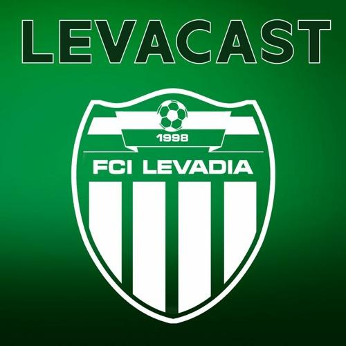 Roheline taust, mis läheb sujuvalt üle mustaks. Pildi ülaosas kirjas Levacast, sellest veidi all pool jalkpalliklubi FCI Levadia vapp.