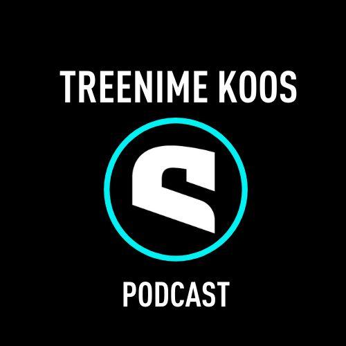 Mustal taustal podcasti nimi ja logo.