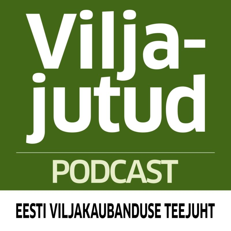 Rohelisel taustal valge tekstiga podcasti nimi.